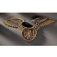 Steampunk Winged Heart Sculptural Wall Clock
