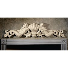 Mermaid Architectural Wall Pediment