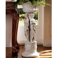 Chatsworth Manor Neoclassical Urn Pedestal Plant Stand