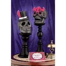 Skull-a-Bration Skull Head Statues (Set of 2)