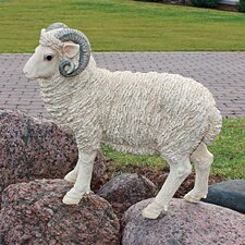 Horned Dorset Sheep Statue