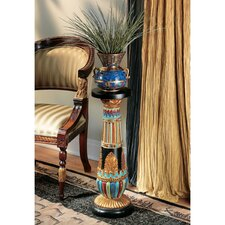 Regal Egyptian Luxor Pedestal Plant Stand (Set of 2)