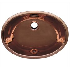 Decorative Undermount Smooth Oval Bathroom Sink