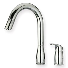 Metrohaus One Handle Widespread Kitchen Faucet with Pull-out Spray