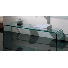 New Generation Large Freestanding Transparent Glass Shelf
