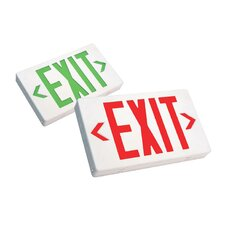 LED Exit Sign with Battery Backup in Black
