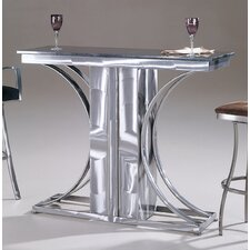Crescent Granite Top Contemporary Bar Table