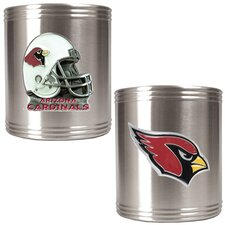 NFL 2 Piece Stainless Steel Can Holder Set