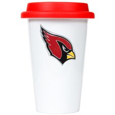 NFL 12oz Double Wall Tumbler with Red Lid