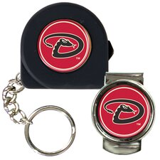 MLB 6 Feet Tape Measure Key Chain and Money Clip Set