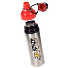 NHL 24oz Colored Stainless Steel Water Bottle Red Lid