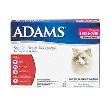 Adams Flea and Tick Spot On For Cats / Kittens