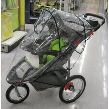 Baby Trend Single Front Swivel Wheel Expedition ELX & Velocity Stroller Rain and Wind Cover