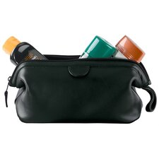 Genuine Leather Deluxe Toiletry Bag