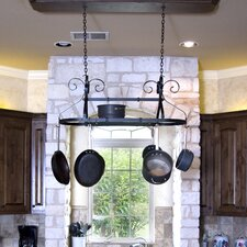 Ornamental Expandable Oval Hanging Pot Rack