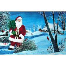 Seasonal Holiday Santa Doormat