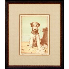 Puppy - Caught in the Act Framed Print