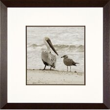 Having a Chat Framed Print