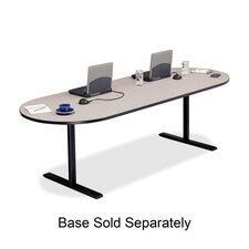 "Racetrack Conference Table,42""x96""x29"",Gray Nebula"
