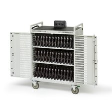 "42 Netbook Cart with 5"" Casters in Concrete"
