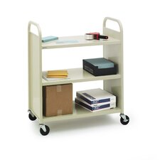 Metal Flat Shelf Booktruck