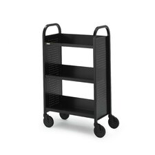 "Voyager Series Mobile Book & Utility Truck with Three Slanted Shelves (27"" wide)"