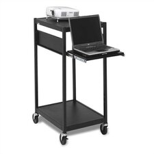 Compact Laptop / Projector Cart with 3 Electrical Outlet