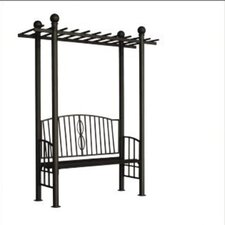 Toscana Bench Arbor with Pergola Style Top