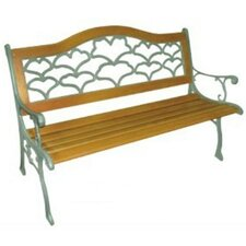 Sea Shell Wood and Cast Iron Park Bench