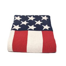USA Flag Cotton Throw