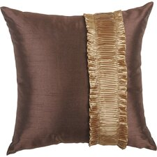 St. Lucia Synthetic Pillow with Brush Fringe and Braid
