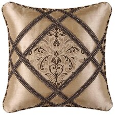 Broderick Synthetic Pillow with Cord and Braid