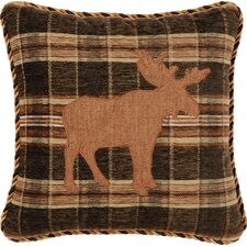 Woodland Synthetic Pillow with Cordand Appliqué