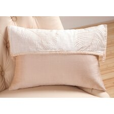 Organic Decorative Pillow with Ribbon & Shell Buttons