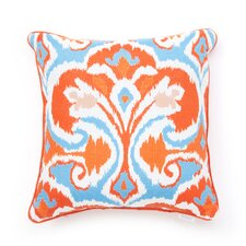 Ikat Decorative Pillow with Self Cord
