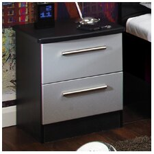 Knightsbridge 2 Drawer Bedside Table