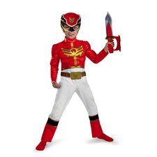 Power Rangers Megaforce Red Ranger Muscle Toddler Costume
