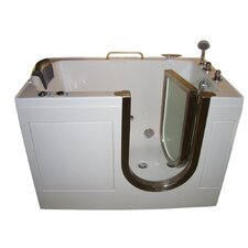 "52"" x 32"" Walk-In Tub with Inline Heater and Whirlpool Jets"