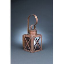 Suffolk Medium Base Sockets Can Top X-Bars Wall Lantern