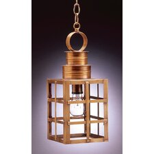 Suffolk Medium Base Sockets Can Top H-Bars 1 Light Hanging Lantern