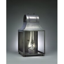Livery Medium Base Socket with Chimney Culvert Top Wall Lantern