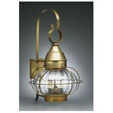 Onion Two Candelabra Sockets Cage with Galley Wall Lantern