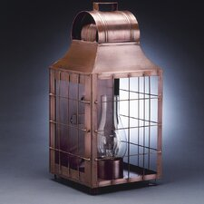 Livery Medium Base Socket Culvert Top H-Rod Wooden Handle Wall Lantern