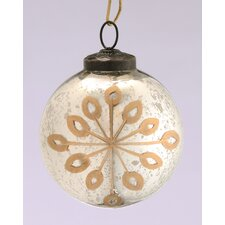 Glass Etched Round Ornament