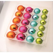 Glass Pastel Ornaments with Window Box (Set of 42)