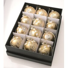 Glass Ornaments with Box (Set of 12)