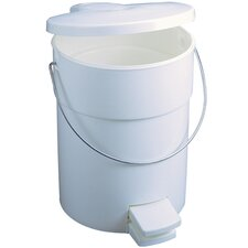 Step-On Waste Container in White