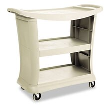 Executive Service Cart with 3-Shelf in Platinum