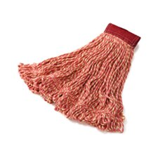 Large Super Stitch Blend Cotton/Synthetic Mop Heads in Red
