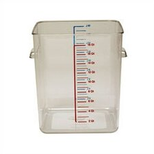 Polycarbonate Square Storage Container (22 U.S. qt.)